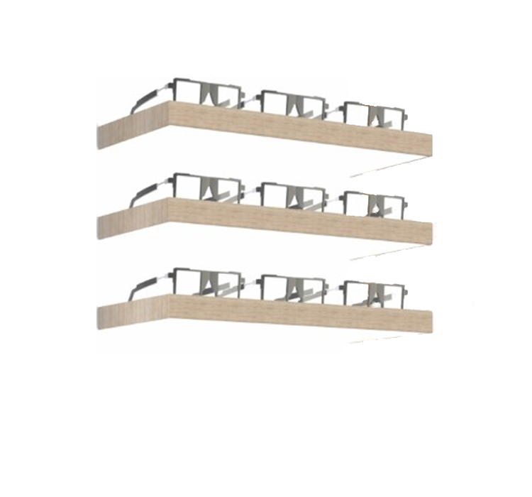 LED shelf, 3 positions, oak ledge