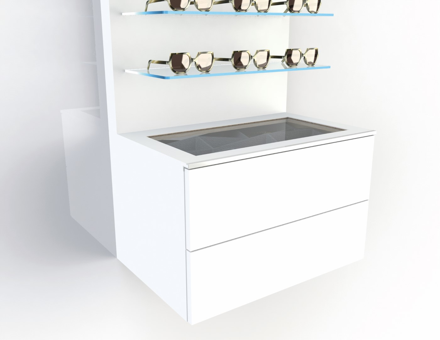Deluxe storage for 15-30 frames, 600mm white