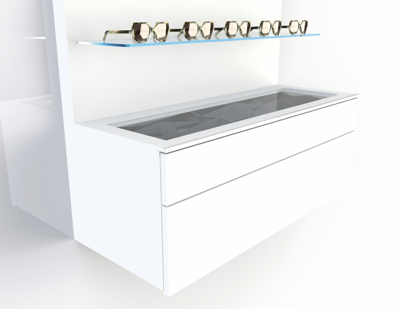 Deluxe storage for 30-60 frames, 1000mm white